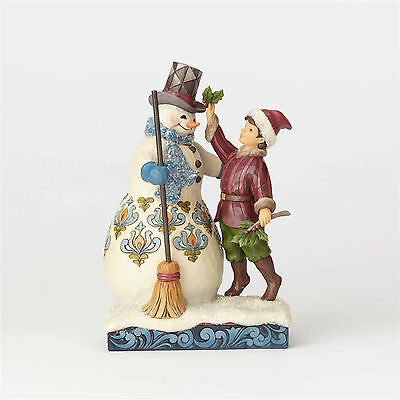 Jim Shore Christmas Victorian Boy & Snowman New 2017 4058754