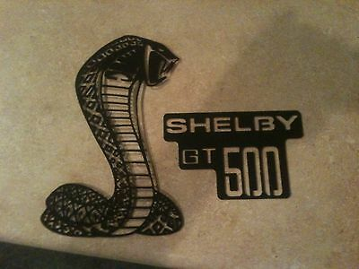 Plasma Cut Black  ShelbyCobra and GT500 logo Metal ManCave/Garage Wall Art