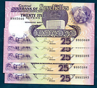 Seychelles -  1989  25 Rupees      - Unc And Scarce