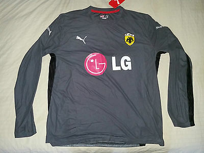 AEK ATHENS football shirt jersey long training PUMA XL grey NEW player issue