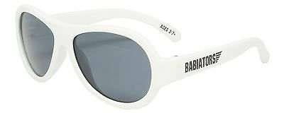 Classic BABIATORS Kids Sunglasses Ages 3-7+ WICKED WHITE 100% UV Protection