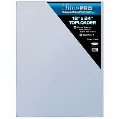 """Large 18"""" x 24"""" CLEAR TOPLOADER Photo Poster Sheet Storage UltraPro NEW 18x24"""
