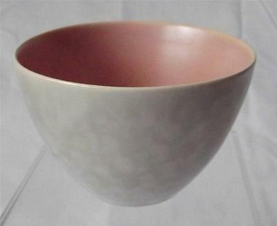 Poole Pottery Twintone C97 Peach Bloom & Seagull Pattern Sugar Bowl 10cm Dia