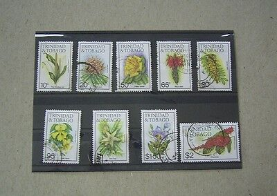 Trinidad And Tobago Flowers Used Stamps - Part Set To $2-00