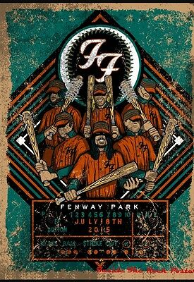 Foo Fighters  Boston Fenway Park Poster Print Silk Screen Unique Rare