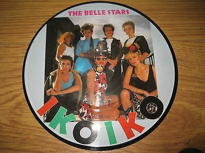 The Belle Stars Iko Iko rare 7 inch vinyl picture disc 1980's