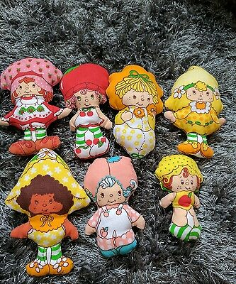 vintage strawberry shortcake set craft dolls