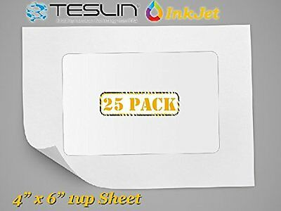 Teslin Synthetic Paper- for Inkjet Printers - Microperforated 1-up - 10 mil | 25
