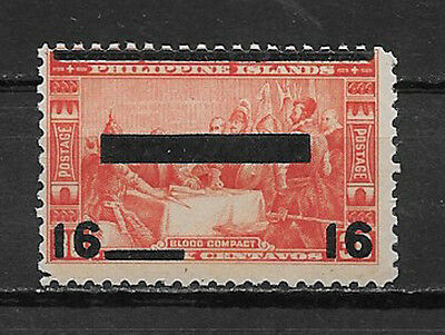 PHILIPPINES , USA , JAPAN , 1942/43 , OCCUPATION ,16c ON 30c STAMP O.P./R.V  MNH