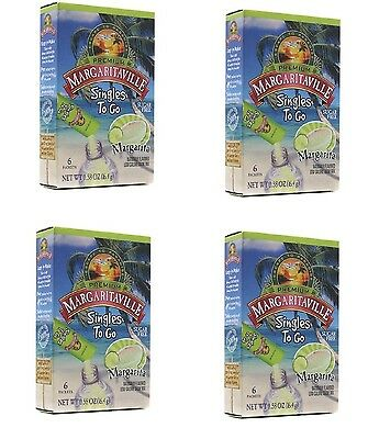 Margaritaville Singles to Go Drink Mix, Margarita, 6 Count (Pack of 4)