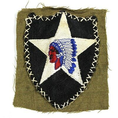 Wwii 2Nd Infantry Division Id Shoulder Sleeve Insignia Ssi Patch Indian Head