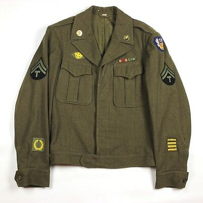 Ww2 Us Army Air Forces / Usaaf 9Th Air Force Ike Dress Jacket British Made Patch