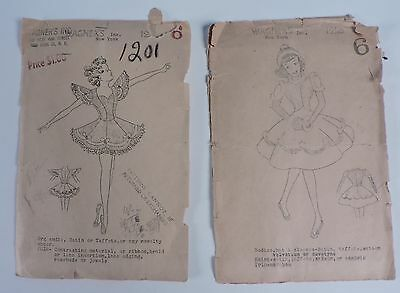 Vintage 1940'S Costume Sewing Pattern  Lot