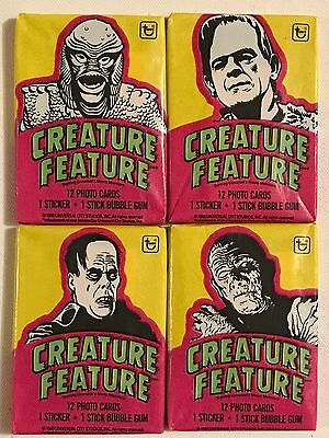 Topps Bazooka Gum Creature Feature Universal Monster Trading Cards 1980 Set of 4