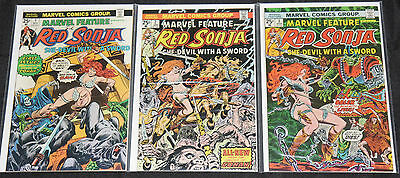 Bronze Age RED SONJA & MARVEL FEATURE 13pc Count Mid-High Grade Comic Lot VF-NM