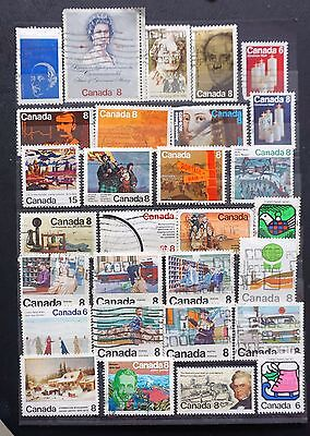 CANADA  USED LOT of 29 DIFFERENT 1972-1974 OLD  COMMEMORATIVE STAMPS  Lot #16