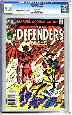 Defenders #111  CGC  9.8  NMMT  white pages