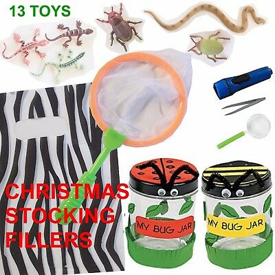 Boys Christmas Stocking Filler toys Holidays Camping kids reptiles Bug Catcher