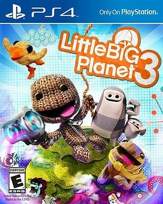 Little Big Planet 3 for Playstation 4 PS4 Pro Console New Sealed Ships Fast !!!