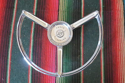 "1957 1958 1959 1960 Ford Truck STEERING WHEEL""POWER STEERING"" HORN RING BUTTON"