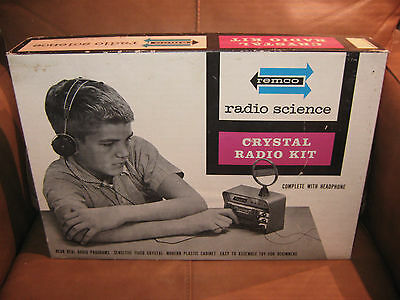 Remco Radio Science Crystal Radio Kit in Box 1962