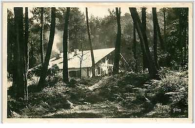 40 HOSSEGOR. Villa bord du Lac. Carte photo 1934