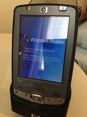 HP iPAQ hx2750 PDA With Charge Cradle, Wall AC Adaptor, Leather Case. No Stylus