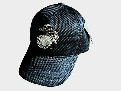 New U.S Military Marine Corps Hat Air Mesh 3-D Embroidered USMC Baseball Cap