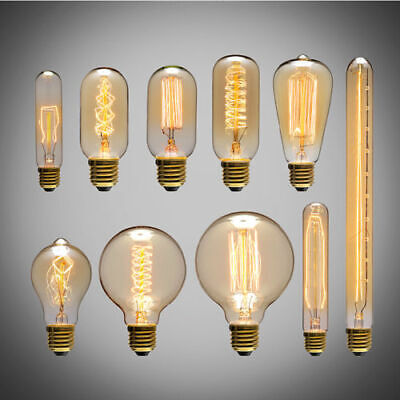 E27 40W Industrial Style Vintage Retro Edison Filament Light Bulb Lamp 220V