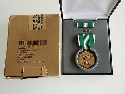 Orig Us Army/usaf/usmc-Medal-Orden-Army Commendation-Decoration Set-Neu-Ovp
