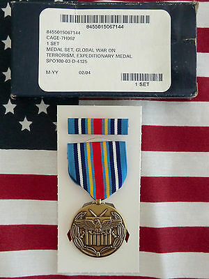 Orig Us Army/usaf/usmc-Medal-Orden-Global War On Terrorism Expeditionary-Neu-Ovp