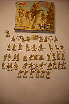 soldatini Toy Soldiers Airfix Eight Army scala H0-00 Blue Box ref. S9 #T