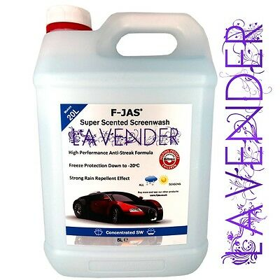 Concentrated Screen Wash Scented Bugs Splatter Removal 5L Winter LAVENDER F-JAS