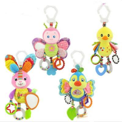 Baby Infant Rattles Plush Animal Stroller Hanging Bell Play Toy Doll Soft Bed B