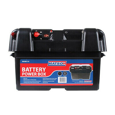 Portable Power Battery Box Matson Dual Camping Boating 4wd