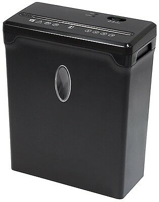 Sentinel Compact 6 Sheet Cross Cut Paper/Credit Card Shredder High Security New