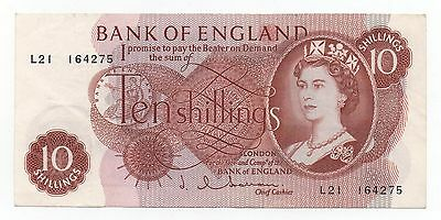 Uk Great Britain England 10 Shillings 1962 - 1966 Pick 373 B Look Scans
