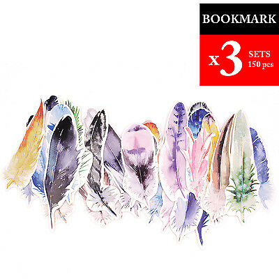 3 Packs Paper Feather Bookmark for Travel Journal Notebook Diary