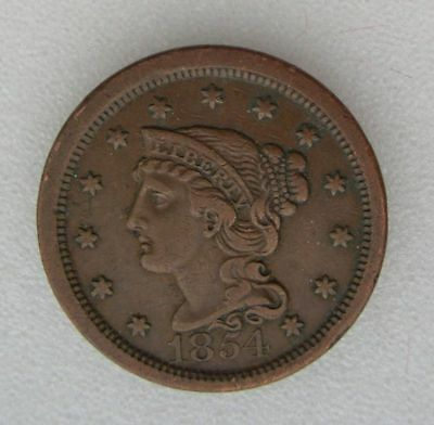 USA  : ONE CENT 1854 LIBERTY HEAD  large cent