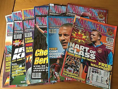 West Ham United - Hammers Magazine - Complete Volume 4 - 12 Issues - 1997/98