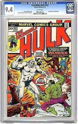 Incredible Hulk #162 CGC 9.4 NM wht pgs 1st Wendigo Leads to 1st Wolverine 4/73