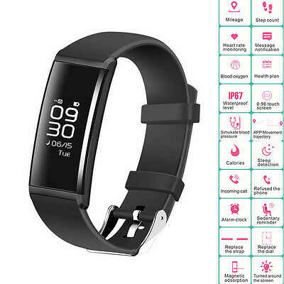 Bluetooth Smart Watch Bracelet Waterproof Fitness Tracker For IOS iPhone Android