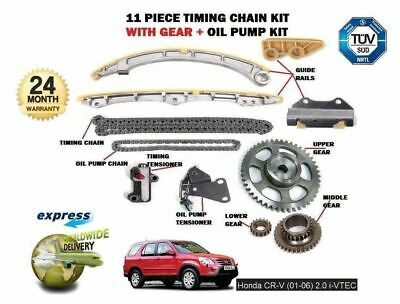 FOR HONDA CRV 2.0 VTEC K20A4 150BHP 2001->on TIMING CHAIN & GEARS & OIL PUMP SET