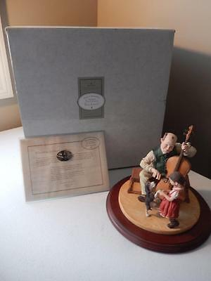 "Norman Rockwell - (RARE) THE FIDDLER Days to Remember #197/4500 (7.5"" Tall)"