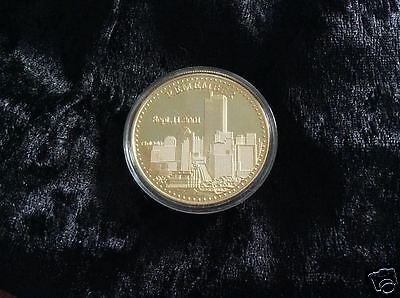 9/11 Twin Towers Gold Coin New York City USA Eagle United We Stand (21)