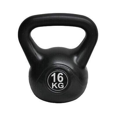 Energetics 16kg Kettlebell Black - Home Gym Kettlebell Weight Fitness Exercises