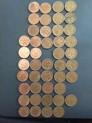 **Rare 1p One Pence Coins 1971 - 2016 - missing 1972 & 1995