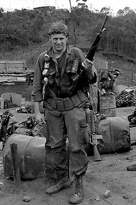 Vietnam 1970 - Recon RTO Saddled-Up With His Gear Americal Division Chu Lai