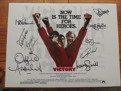 Signed  Escape to Victory 16x12 Film Poster photo by 9   Proof  COA