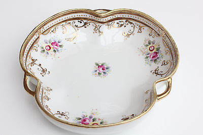 Vintage Noritake Dish 17cm Trinket HandPainted Gilded Antique Japan Nippon Bowl